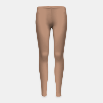 Thumbnail image of Pantone Tawny Birch pure clear beige cacao brown tone colour Autumn/Winter 2020/2021 London Girl's leggings, Live Heroes