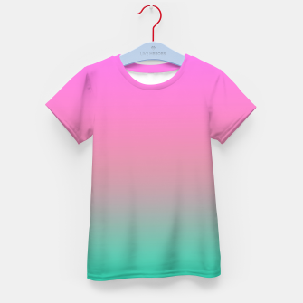 Miniature de image de Smooth gradient summer colors fashion simple color pink blue background Kid's t-shirt, Live Heroes