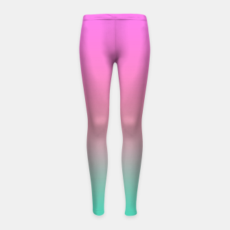 Miniature de image de Smooth gradient summer colors fashion simple color pink blue background Girl's leggings, Live Heroes