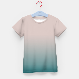 Miniature de image de Smooth gradient neutral colors fashion simple color beige blue background Kid's t-shirt, Live Heroes