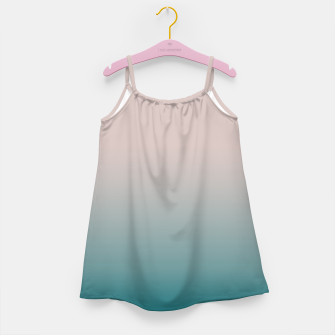 Miniature de image de Smooth gradient neutral colors fashion simple color beige blue background Girl's dress, Live Heroes