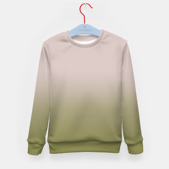 Miniature de image de Smooth gradient neutral colors fashion simple color beige green background Kid's sweater, Live Heroes