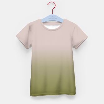 Miniaturka Smooth gradient neutral colors fashion simple color beige green background Kid's t-shirt, Live Heroes