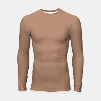 Thumbnail image of Pantone Tawny Birch pure clear beige cacao brown tone colour Autumn/Winter 2020/2021 London Longsleeve rashguard , Live Heroes