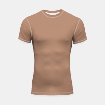 Thumbnail image of Pantone Tawny Birch pure clear beige cacao brown tone colour Autumn/Winter 2020/2021 London Shortsleeve rashguard, Live Heroes