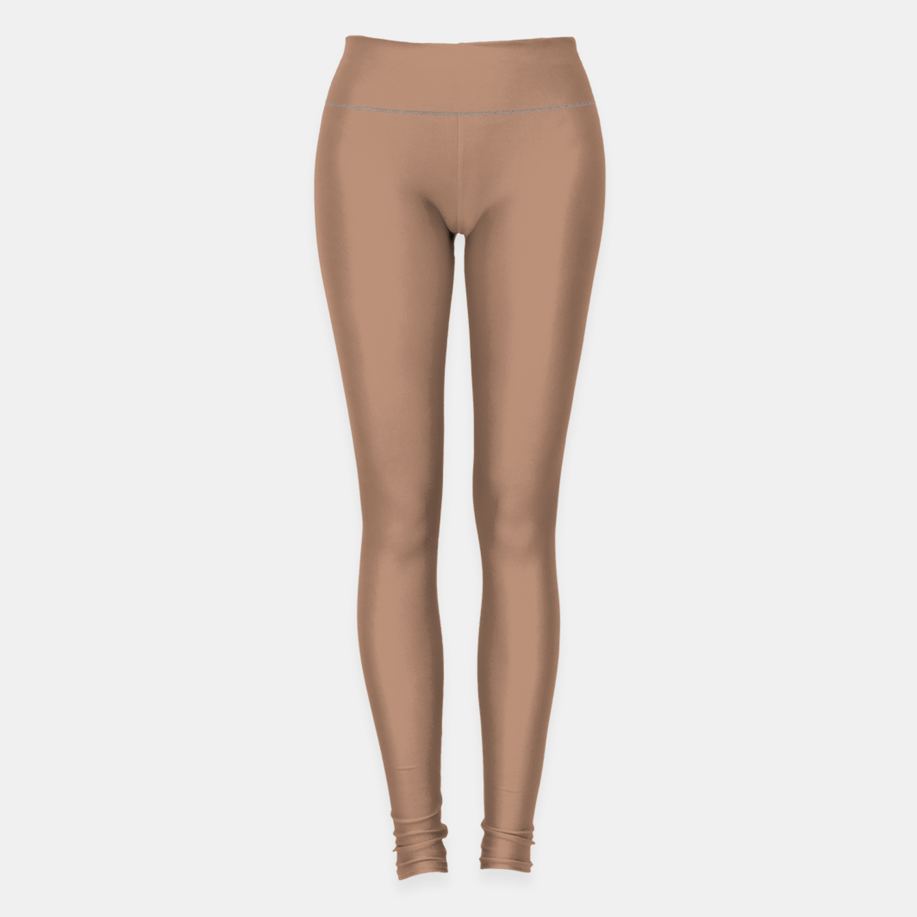Image of Pantone Tawny Birch pure clear beige cacao brown tone colour Autumn/Winter 2020/2021 London Leggings - Live Heroes