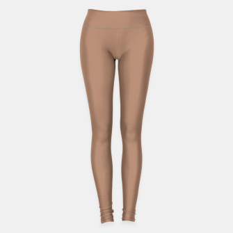 Thumbnail image of Pantone Tawny Birch pure clear beige cacao brown tone colour Autumn/Winter 2020/2021 London Leggings, Live Heroes