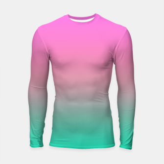 Miniature de image de Smooth gradient summer colors fashion simple color pink blue background Longsleeve rashguard , Live Heroes