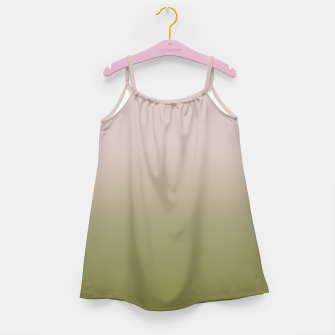 Miniature de image de Smooth gradient neutral colors fashion simple color beige green background Girl's dress, Live Heroes