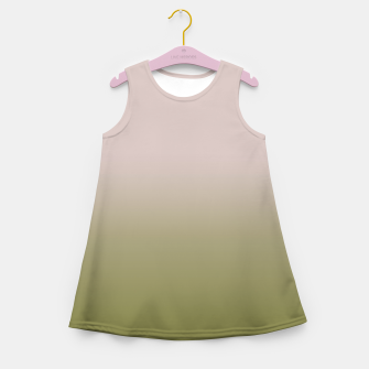 Miniaturka Smooth gradient neutral colors fashion simple color beige green background Girl's summer dress, Live Heroes