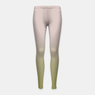 Miniature de image de Smooth gradient neutral colors fashion simple color beige green background Girl's leggings, Live Heroes