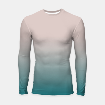 Miniature de image de Smooth gradient neutral colors fashion simple color beige blue background Longsleeve rashguard , Live Heroes