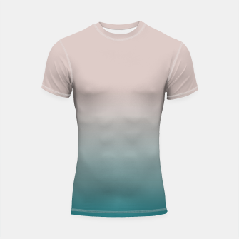 Miniature de image de Smooth gradient neutral colors fashion simple color beige blue background Shortsleeve rashguard, Live Heroes