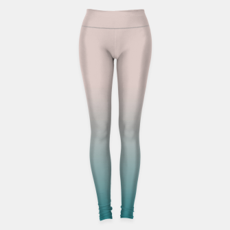 Miniature de image de Smooth gradient neutral colors fashion simple color beige blue background Leggings, Live Heroes