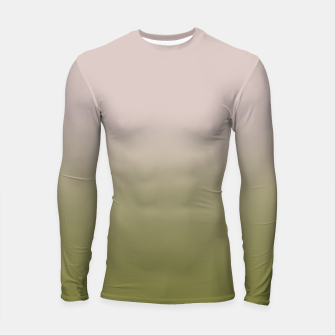 Miniature de image de Smooth gradient neutral colors fashion simple color beige green background Longsleeve rashguard , Live Heroes