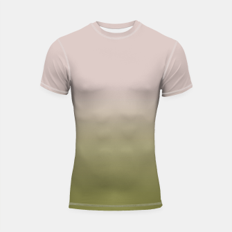 Miniaturka Smooth gradient neutral colors fashion simple color beige green background Shortsleeve rashguard, Live Heroes