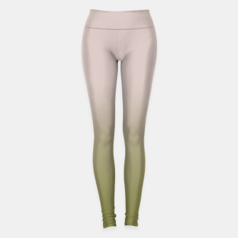 Miniature de image de Smooth gradient neutral colors fashion simple color beige green background Leggings, Live Heroes
