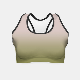 Miniature de image de Smooth gradient neutral colors fashion simple color beige green background Crop Top, Live Heroes