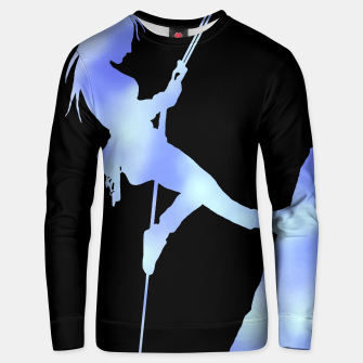 Thumbnail image of Climber girl blues sweater, Live Heroes