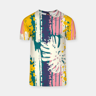 Tropical brush strokes 01 Camiseta Bild der Miniatur