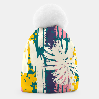 Tropical brush strokes 01 Gorro Bild der Miniatur