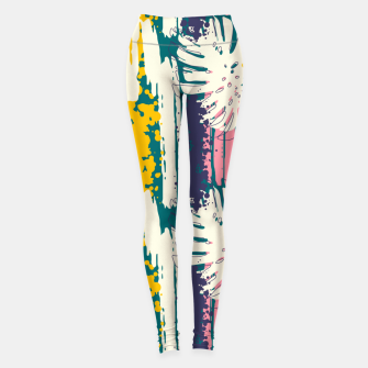 Tropical brush strokes 01 Leggings Bild der Miniatur