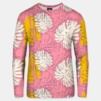 Thumbnail image of Tropical pink brush strokes Sudadera unisex, Live Heroes