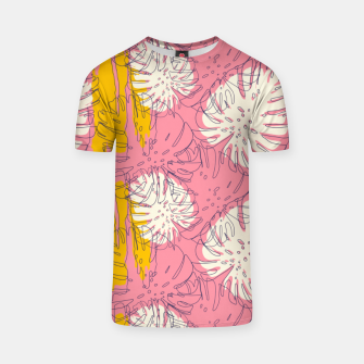 Thumbnail image of Tropical pink brush strokes Camiseta, Live Heroes