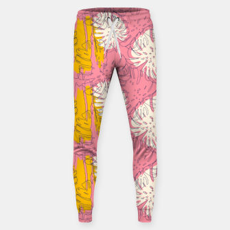 Thumbnail image of Tropical pink brush strokes Pantalones de chándal , Live Heroes