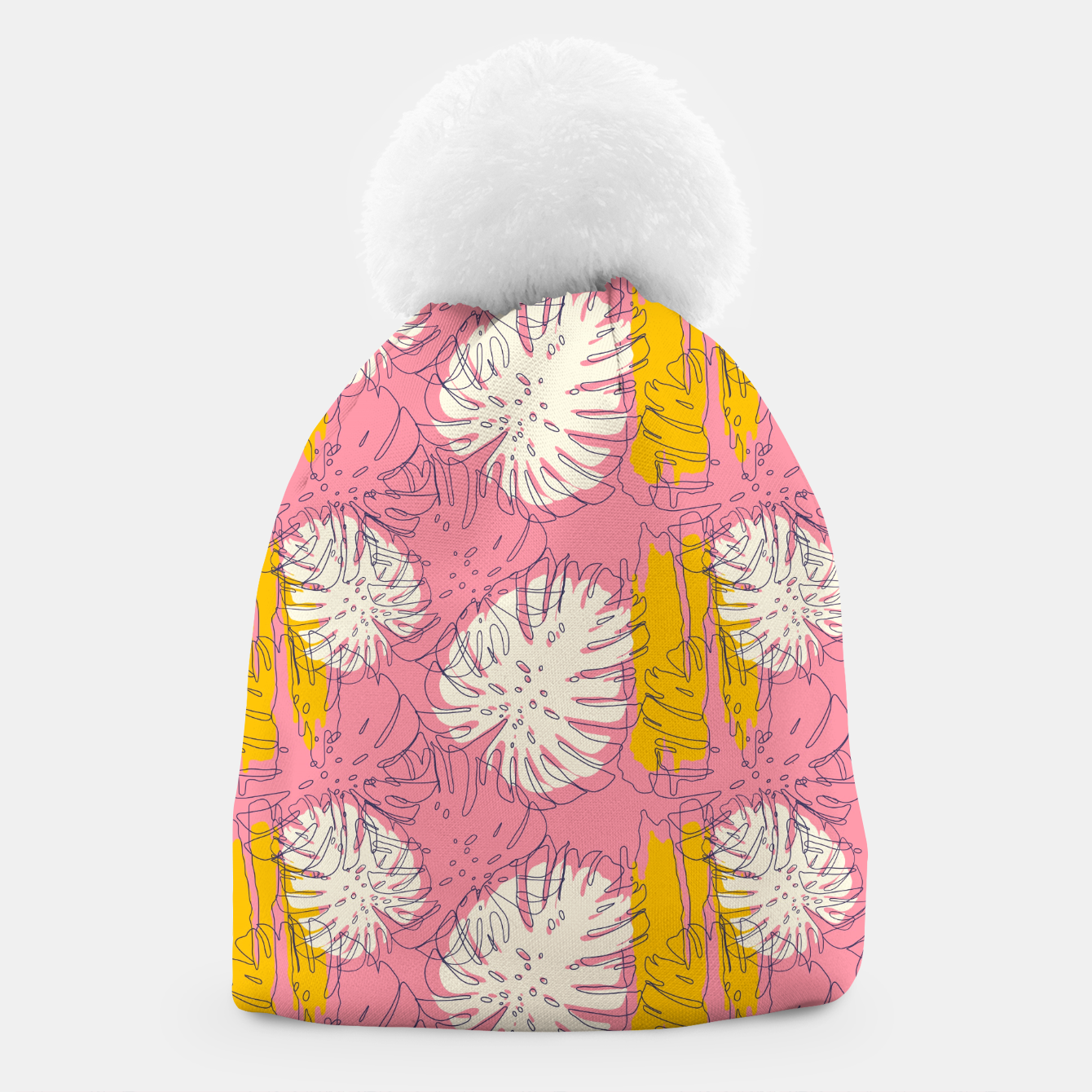 Foto Tropical pink brush strokes Gorro - Live Heroes