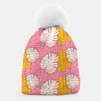 Thumbnail image of Tropical pink brush strokes Gorro, Live Heroes