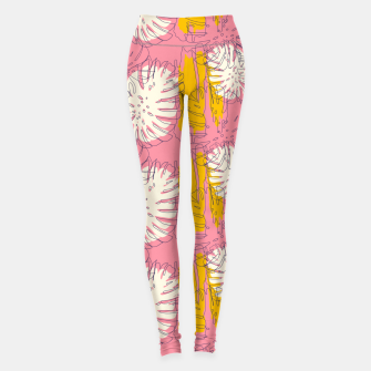 Thumbnail image of Tropical pink brush strokes Leggings, Live Heroes