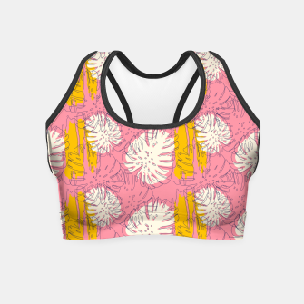 Thumbnail image of Tropical pink brush strokes Crop Top, Live Heroes