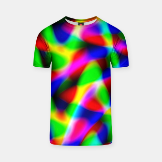 Thumbnail image of colour melded t shirt, Live Heroes