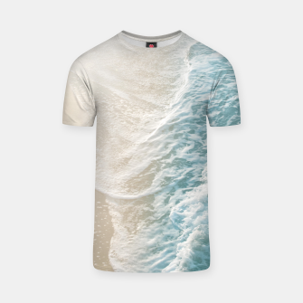 Thumbnail image of Soft Teal Gold Ocean Dream Waves #1 #water #decor #art  T-Shirt, Live Heroes