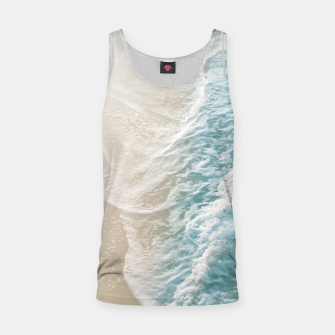 Thumbnail image of Soft Teal Gold Ocean Dream Waves #1 #water #decor #art  Muskelshirt , Live Heroes