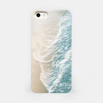 Thumbnail image of Soft Teal Gold Ocean Dream Waves #1 #water #decor #art  iPhone-Hülle, Live Heroes