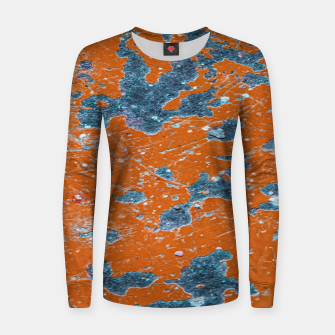 Thumbnail image of Vivid Grunge Abstract Print Women sweater, Live Heroes