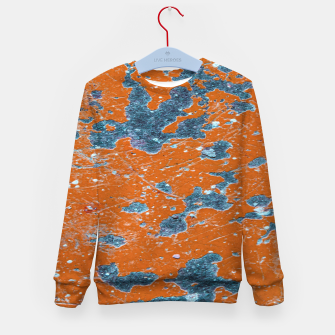 Thumbnail image of Vivid Grunge Abstract Print Kid's sweater, Live Heroes