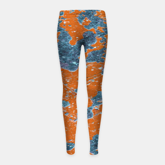 Thumbnail image of Vivid Grunge Abstract Print Girl's leggings, Live Heroes
