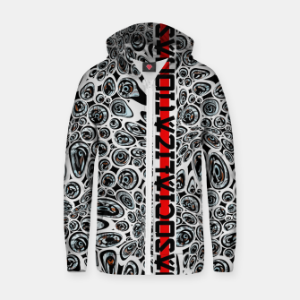 asocialization Zip up hoodie thumbnail image
