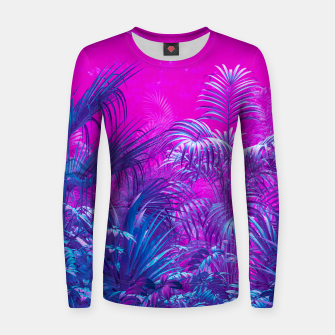 Thumbnail image of Neon Jungle Paradise Women sweater, Live Heroes