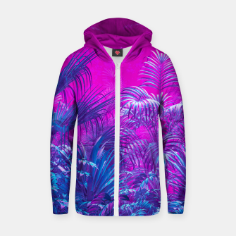 Thumbnail image of Neon Jungle Paradise Zip up hoodie, Live Heroes