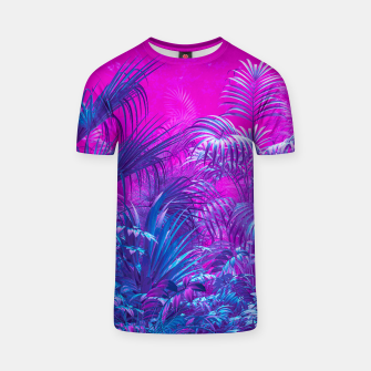 Thumbnail image of Neon Jungle Paradise T-shirt, Live Heroes