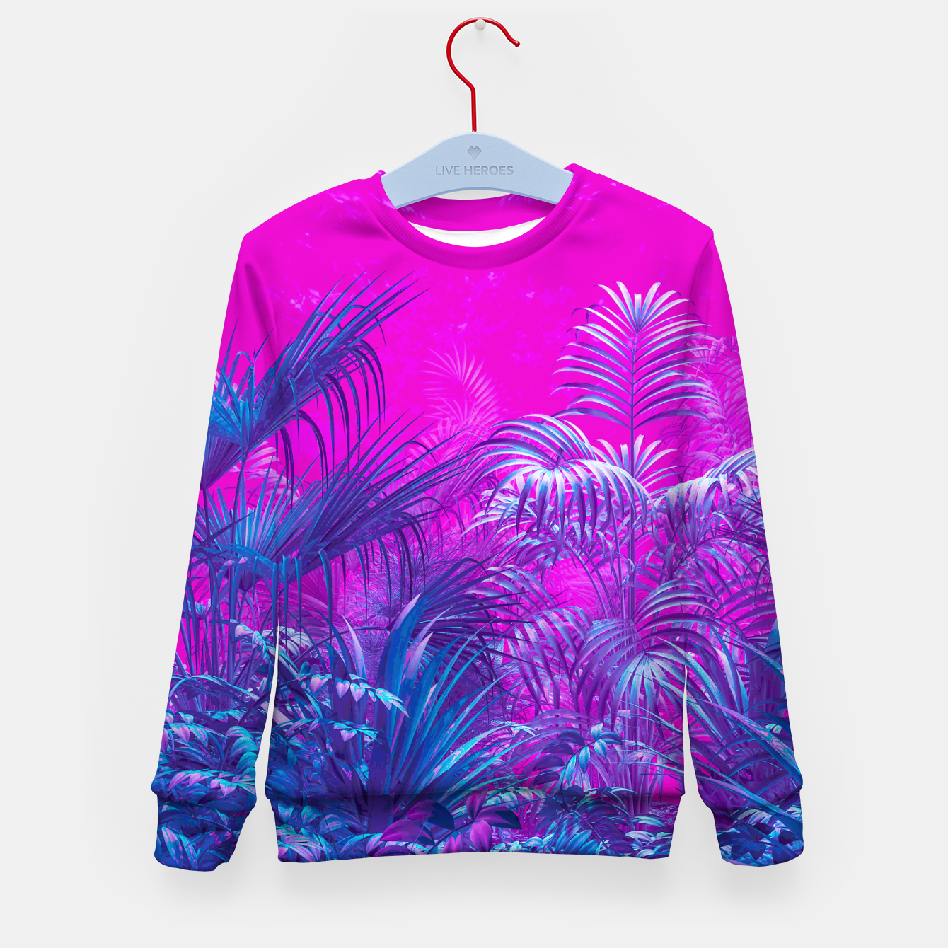 Image of Neon Jungle Paradise Kid's sweater - Live Heroes