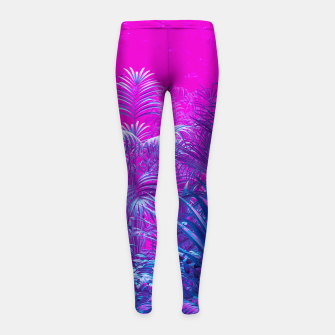 Thumbnail image of Neon Jungle Paradise Girl's leggings, Live Heroes