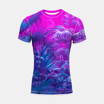 Thumbnail image of Neon Jungle Paradise Shortsleeve rashguard, Live Heroes