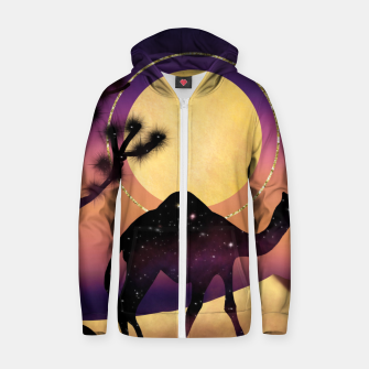 Thumbnail image of The Camel and the Joshua Tree Zip up hoodie, Live Heroes