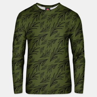 Thumbnail image of Feeling of lightness pattern III - Pine needle green Unisex sweater, Live Heroes