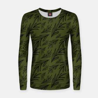 Thumbnail image of Feeling of lightness pattern III - Pine needle green Women sweater, Live Heroes